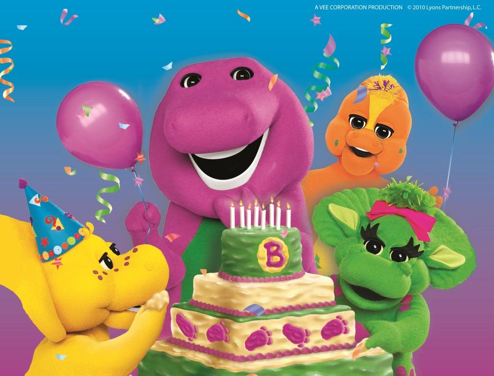 Barney Live Birthday Bash Grinning Cheek To Cheek - Barney live in concert birthday