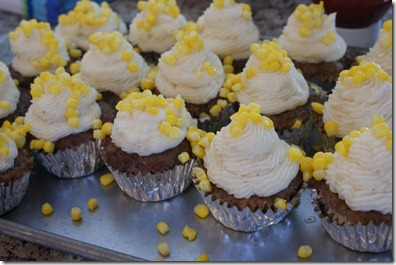 Meatloaf Cupcakes with Corn