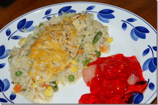 Cheesy Chicken and Rice Casserole Dinner