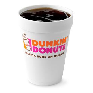 dunkin donuts hot coffee