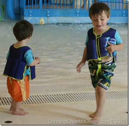 Boys in Swim Gear