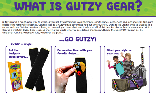 Gutzy Gear Customizable Backpack