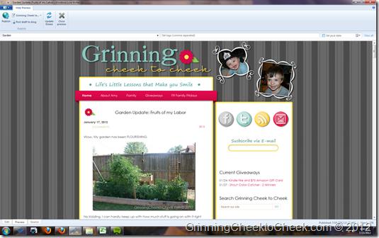 Grinning Cheek to Cheek on LiveWriter