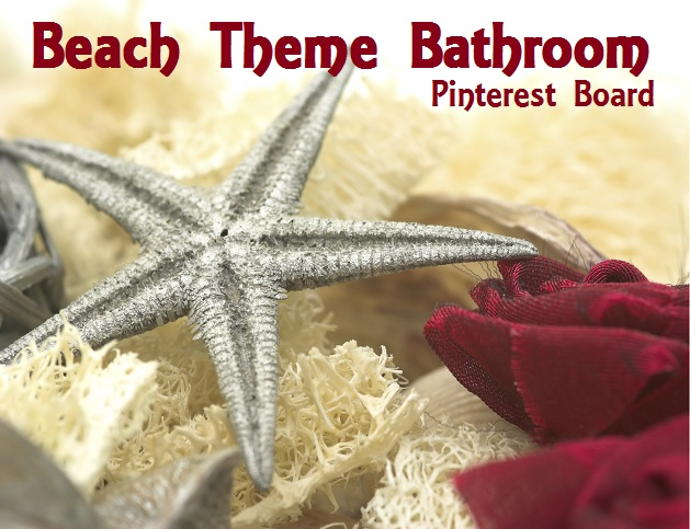 Beach Theme Bathroom Starfish and Sponge