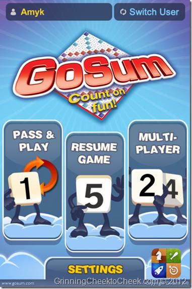 GoSum Title Screen