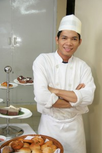 chef learning to cook