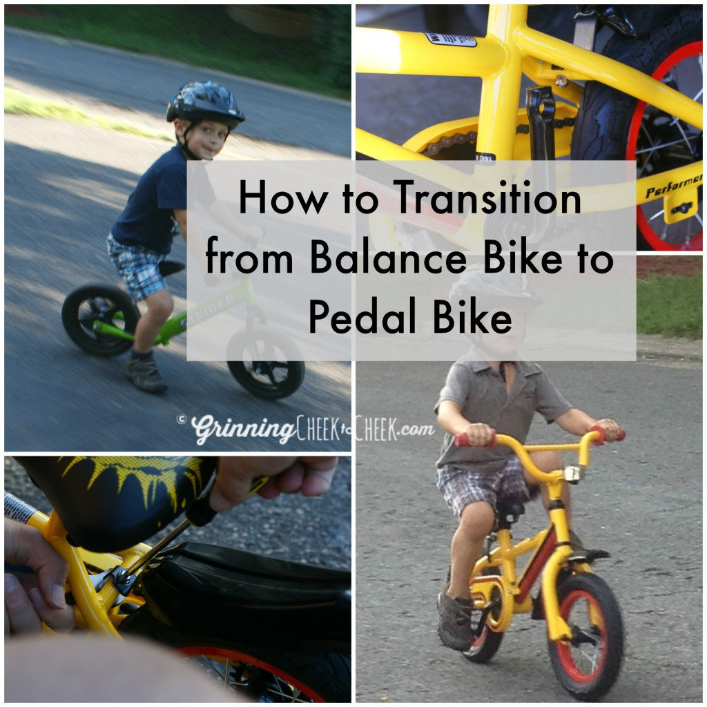 How we transitioned from the Balance Bike to a Pedal Bike in ONE DAY with No Tears! My 3 1/2 year-old was riding with no training wheels, and keeping up with the big kids!