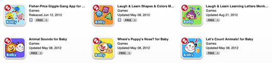 Fisher Price Apps