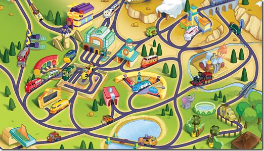 Chuggington Traintastic Adventures Map