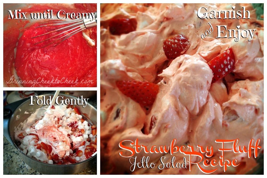Strawberry Fluff Jello Salad Grinning Cheek To Cheek