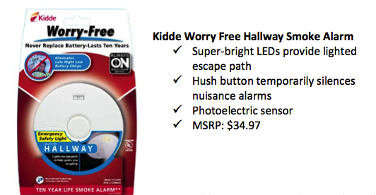 I Received The Hallway Alarm From Kidde Which Is Lighted With Leds To Provide You An Escape Path During A Fire While Searching My House