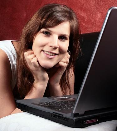 listening to music on laptop