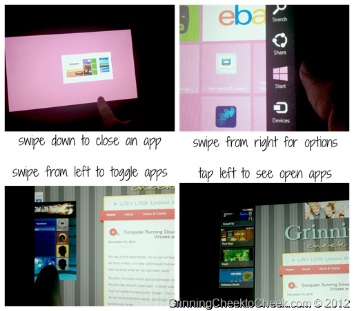 Windows 8 Swiping