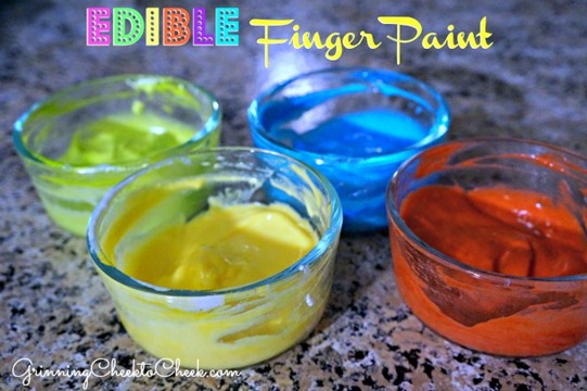 Edible Finger Paint 2