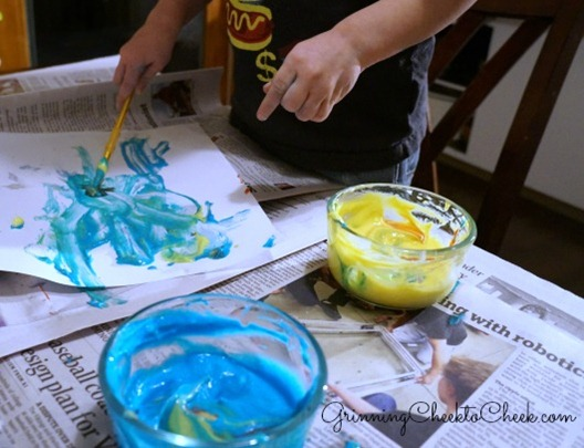 Edible Toddler Paint 1