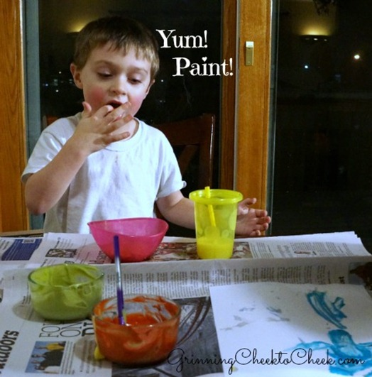 Edible Toddler Paint 2