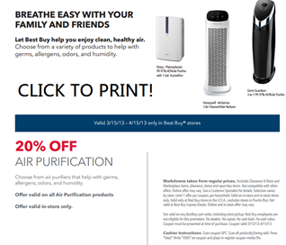 Sharp Air Purifier Coupon