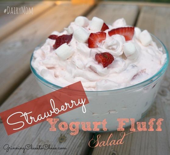 Strawberry Yogurt Fluff Salad 01