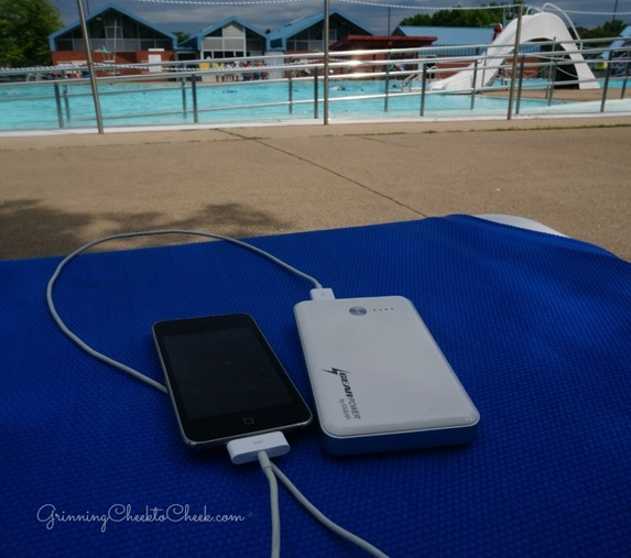 portable ipod charger pool