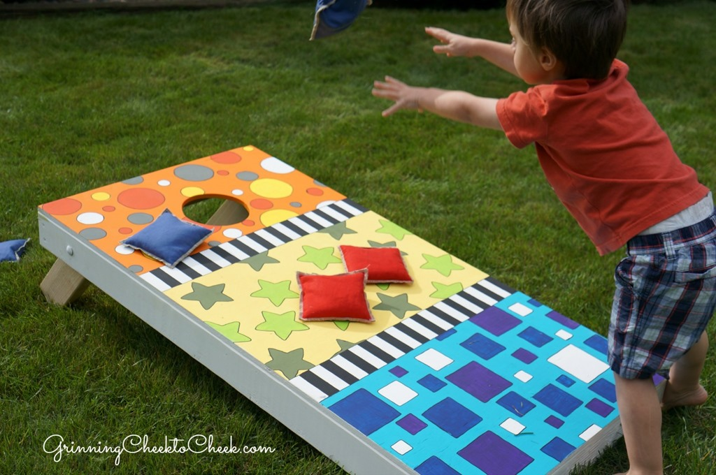 Teaching and creating with fiskars diy bean bag toss for Decoration hole