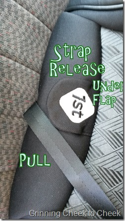 Safety 1st Strap Release