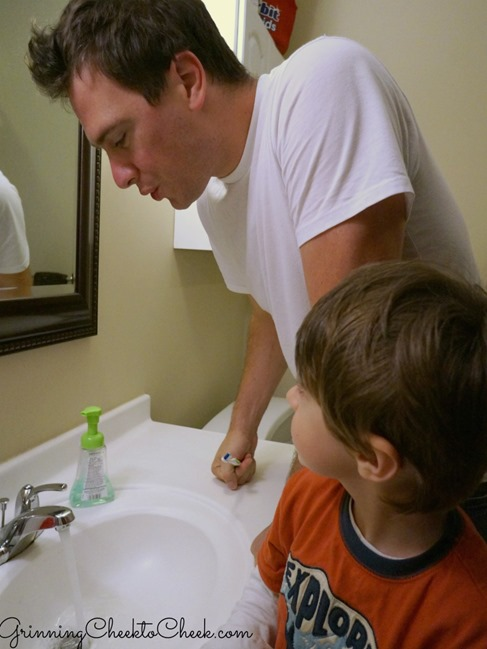 Teach your kids to spit toothpaste