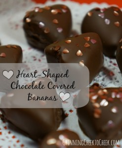 Heart-Shaped Chocolate Covered Banana's