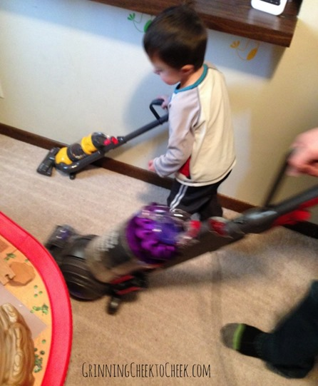 Vacuuming Together with dyson