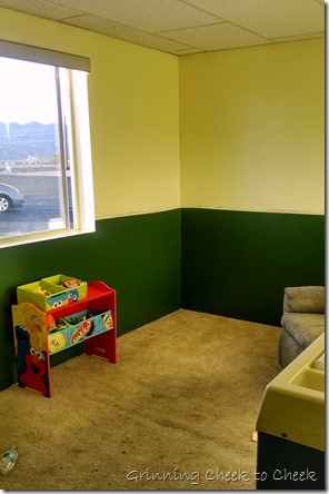 Nursery Makeover painting done!