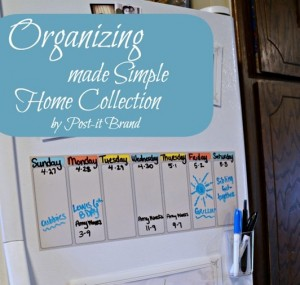 Organizing your fridge with the Home  collection by Post-it® Brand, Scotch® Brand   and Command™ Brands