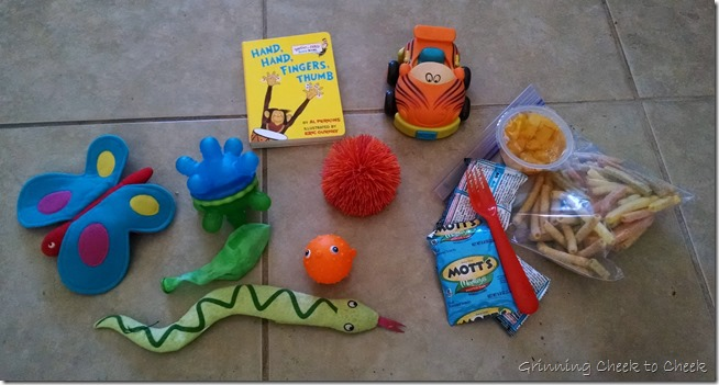 Cozy Coupe Backpack Contents