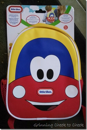 Cozy Coupe Backpack Package