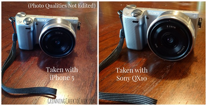 iPhone vs Sony QX10