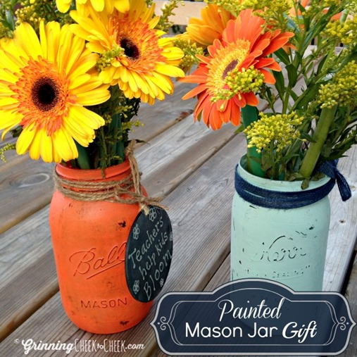 Painted Mason Jar Gift