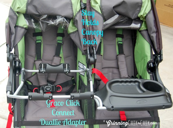 bob revolution flex double stroller gettingfit grinning. Black Bedroom Furniture Sets. Home Design Ideas