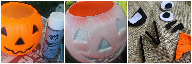 Olaf Halloween Treat Bucket #Frozen #Halloween - Grinning Cheek to ...