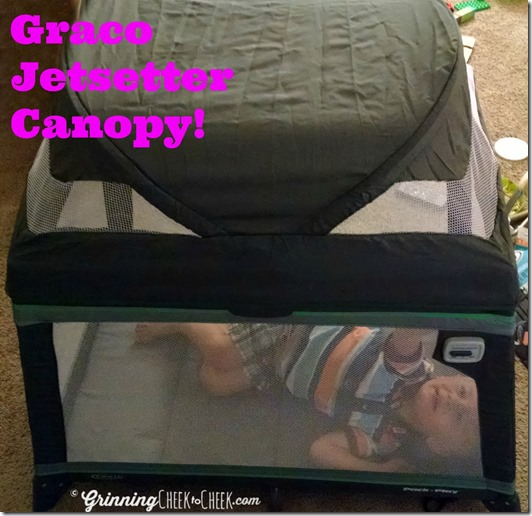 Playard with Canopy & The New and Improved Pack u0027n Play #Giveaway - Grinning Cheek to Cheek