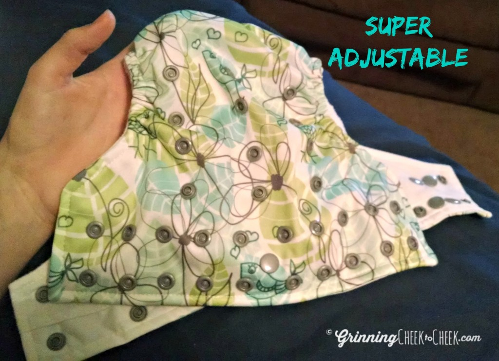 Glow bug diaper adjustable