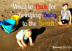 bring baby to the beach