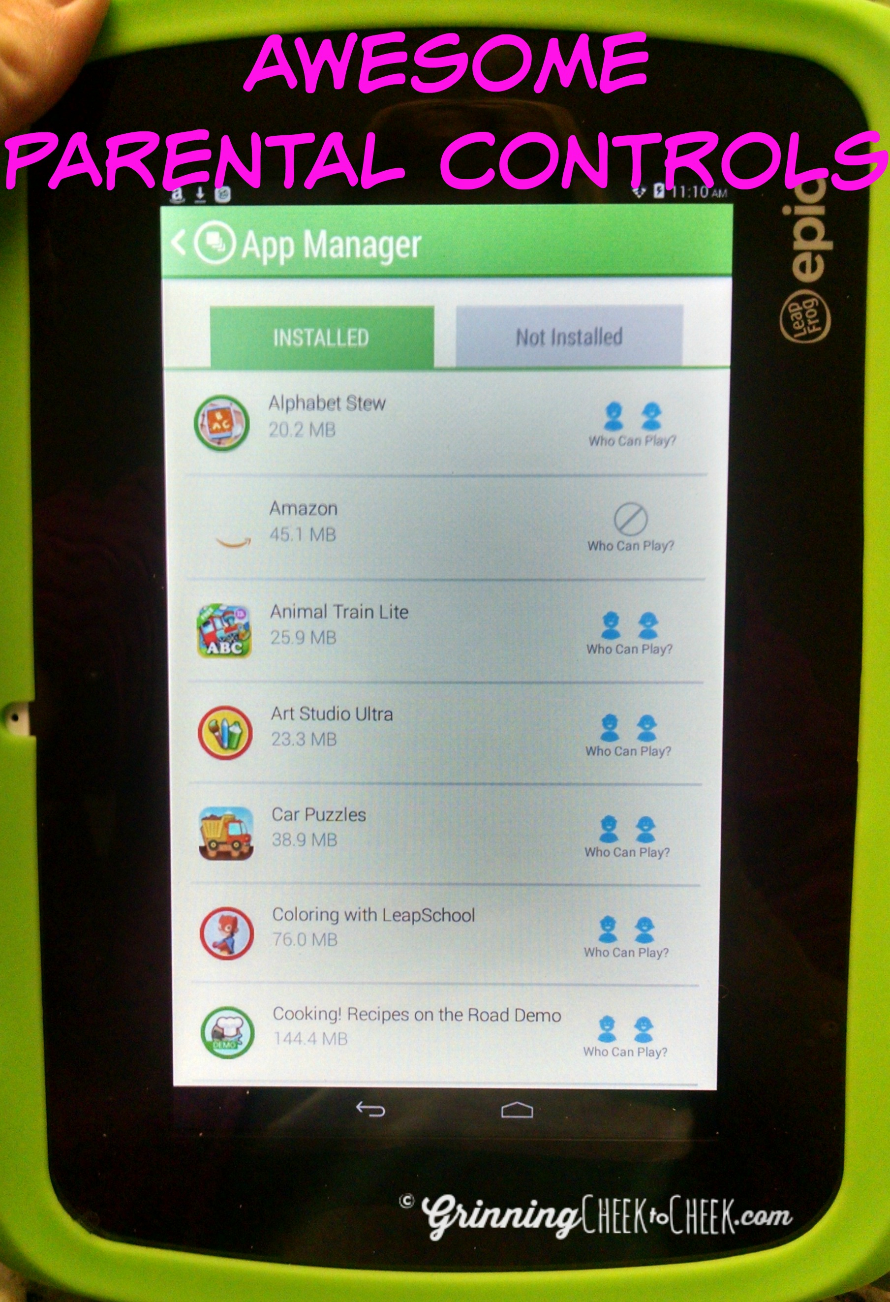 LeapFrog Tablet is Epic! - Grinning Cheek to Cheek