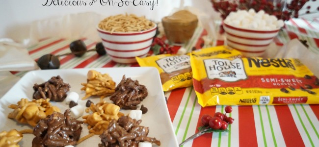 Chocolate Haystack Cookies with Nestle Toll House #HolidayRemix #Giveaway #BakeSomeonesDay