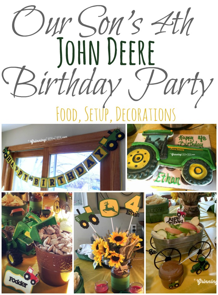 John Deere Tractor Themed Birthday Party Ideas