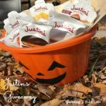 Peanut Butter Almond Halloween Cookies- #Justin's #ad #Giveaway