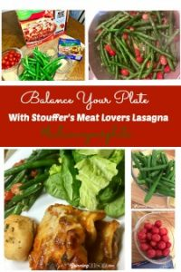 Balance Your Plate with Stouffer's Family Size Meat Lovers Lasagna
