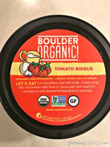 Yum a Warm Bowl of Boulder Organic Soup- A Cold Snowy Day in Minnesota